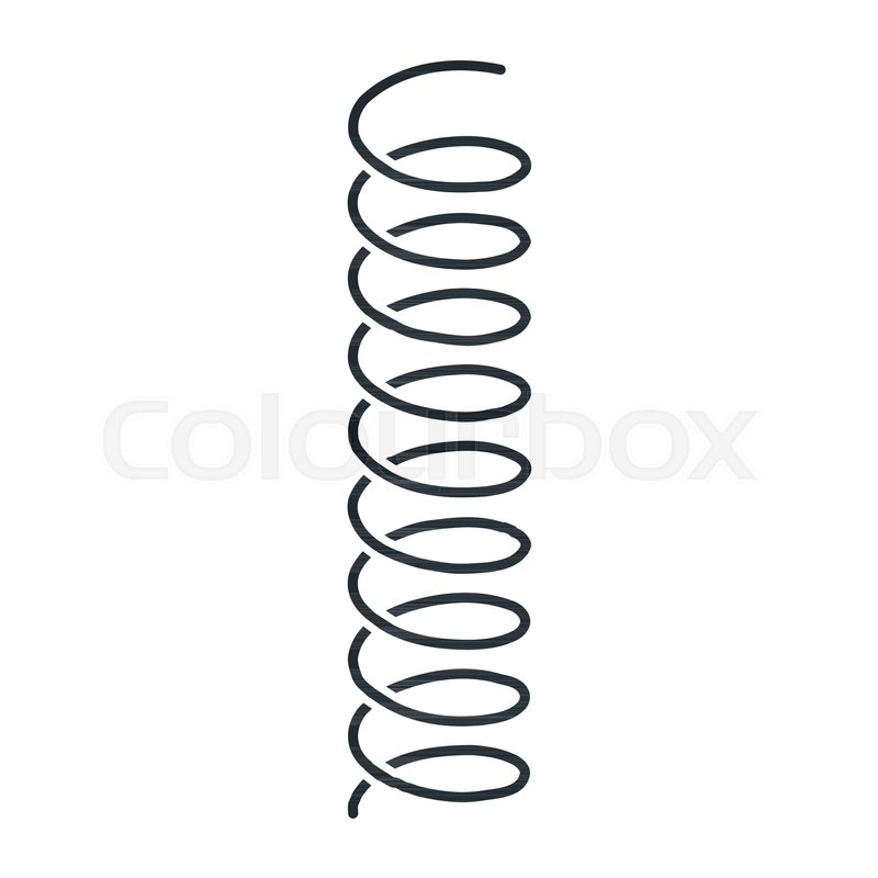 800x800 coil spring steel spring metal spring stock vector colourbox