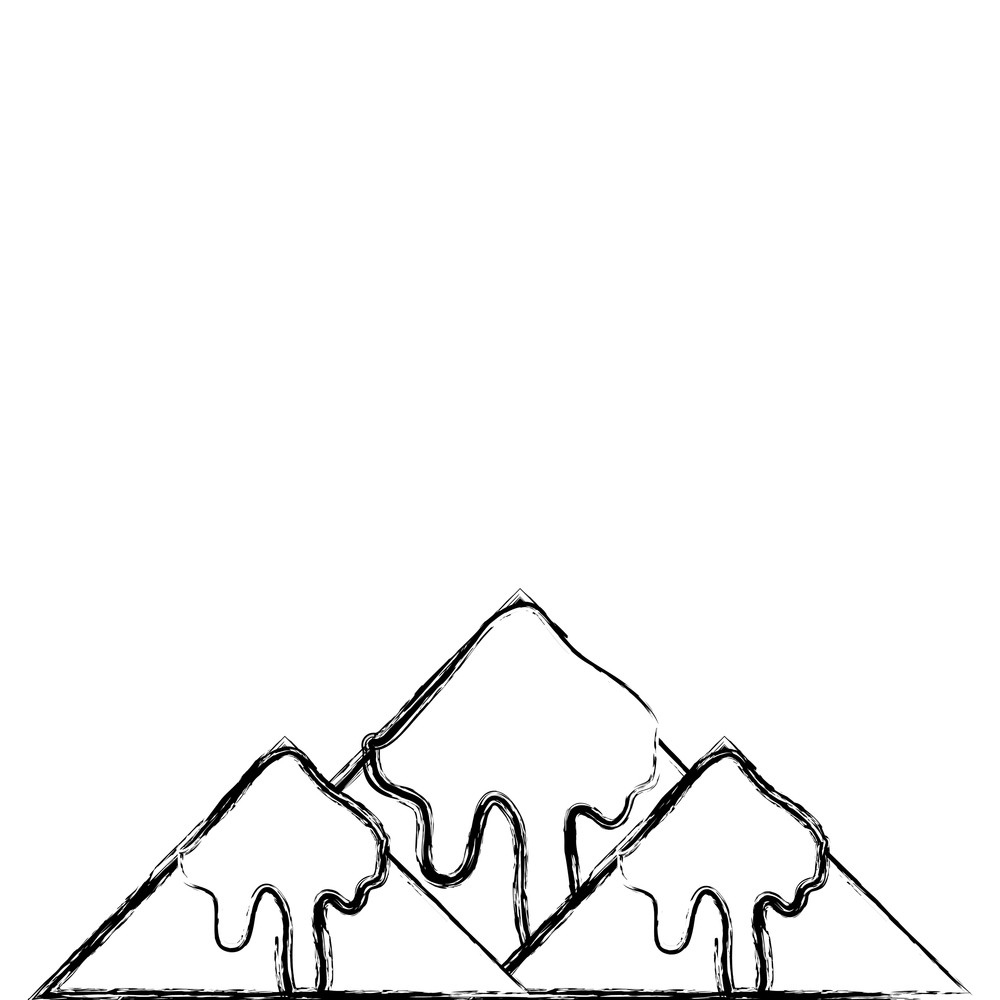 1000x1000 Figure Natural Snowy Mountain And Cold Weather Vector Illustration