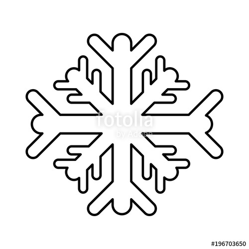 500x500 Line Snowflakes Cold Weather Nature Season Stock Image