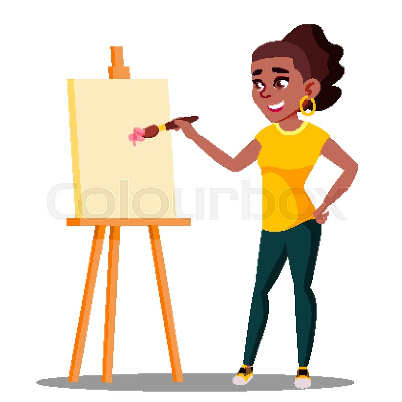 800x800 Student Art College Drawing On The Stock Vector Colourbox