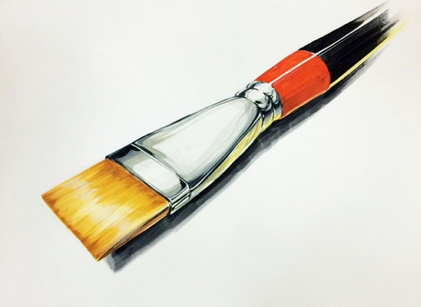 Colored Charcoal Drawing