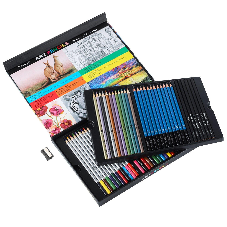 1500x1500 Premium Art Pencils, Magicfly Assorted Pencil Set