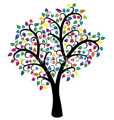 380x400 colorful tree vector image on i like trees colorful trees
