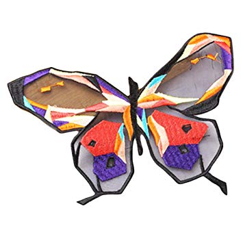 355x355 Colorful Butterfly Custom Patches Sticker Sew On Applique