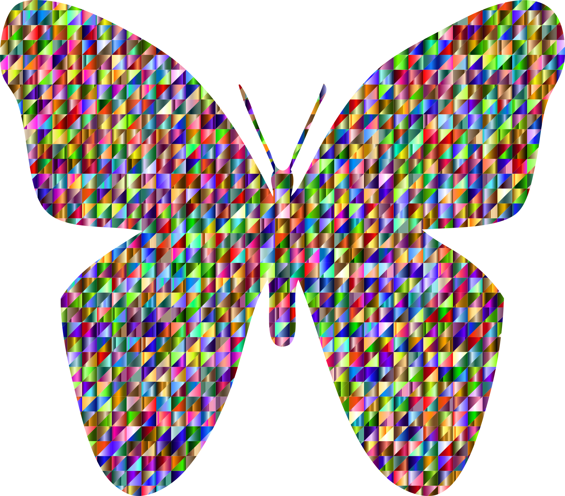 1920x1683 Colorful Geometric Drawing Of A Butterfly Free Image