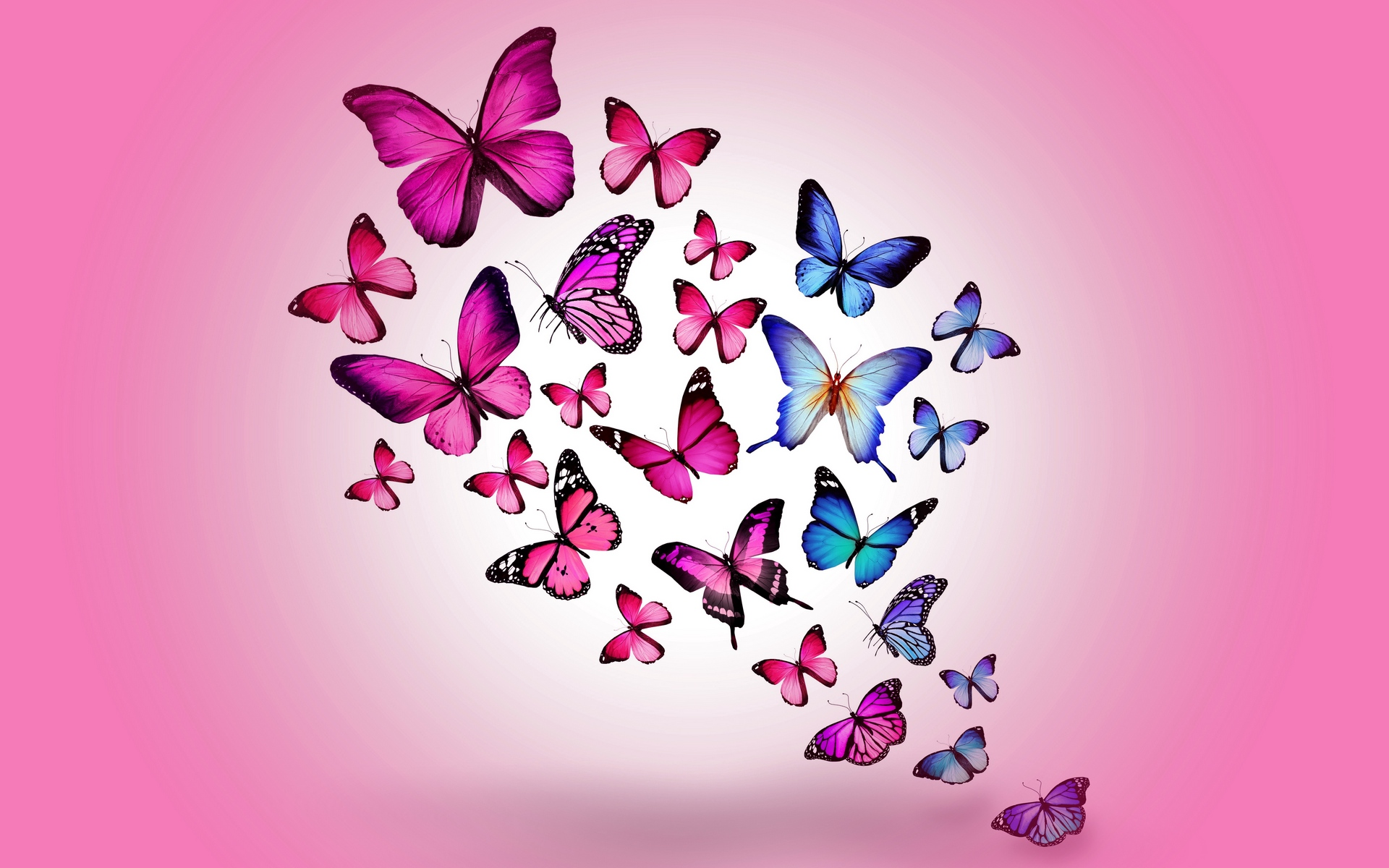 1920x1200 Download Wallpaper Butterfly, Drawing, Flying, Colorful