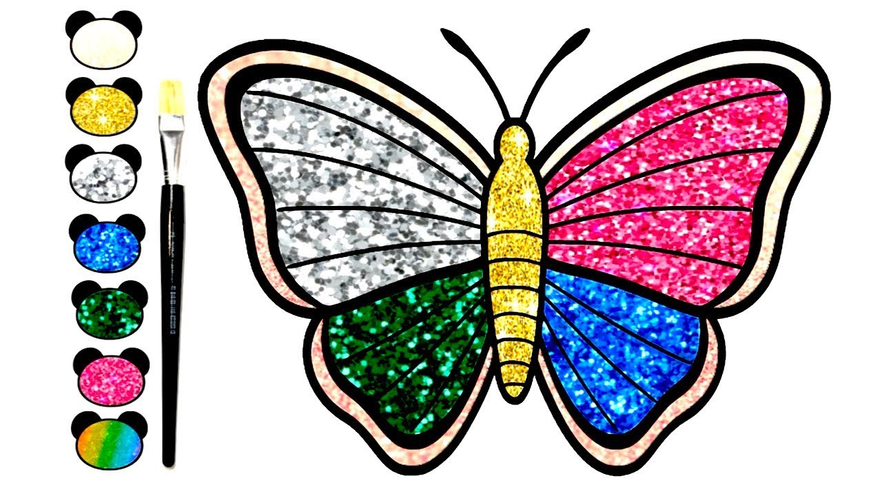 1280x720 Draw Colorful Butterfly For Kids Children Learn Drawing