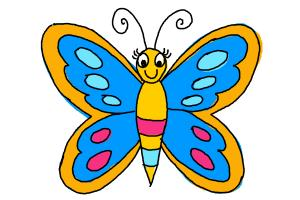 300x200 How To Draw A Butterfly For Kids
