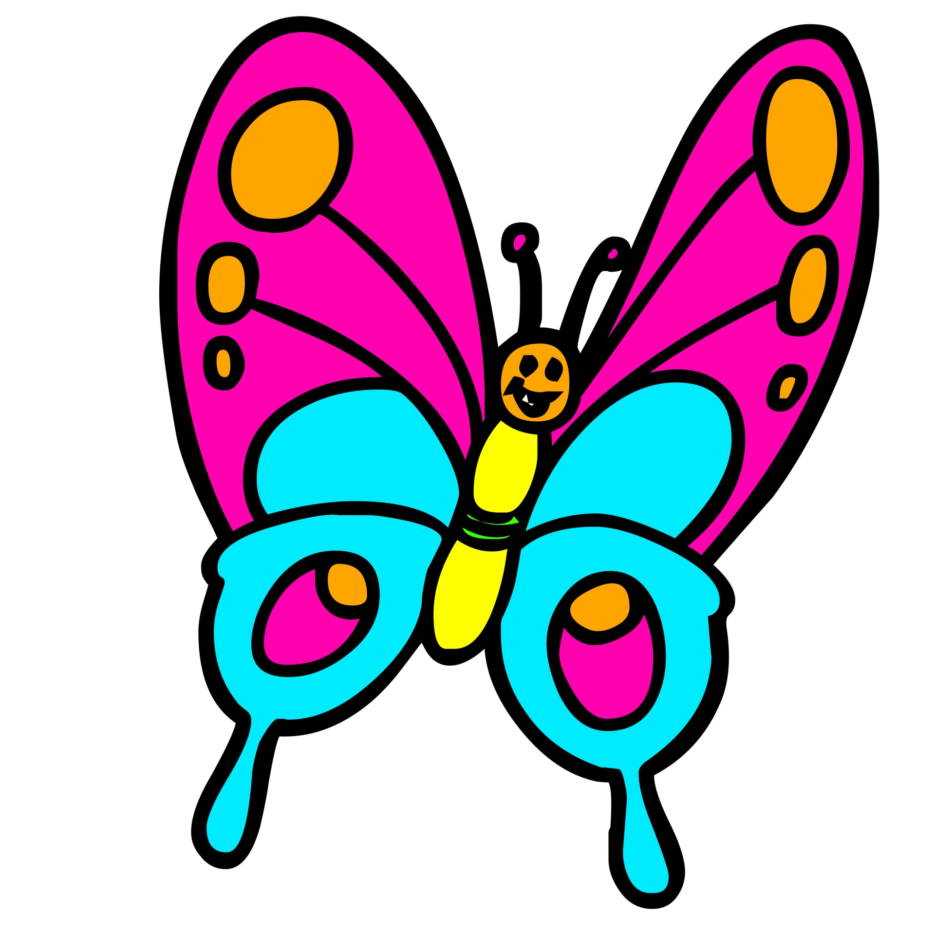 1920x1920 Butterfly, Color, Cartoon, Drawing, Orange