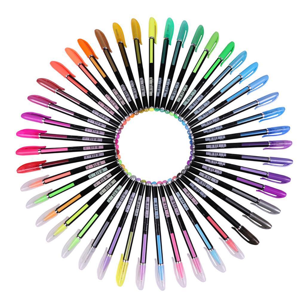 1001x1001 glitter gouache drawing color marker gel pen school