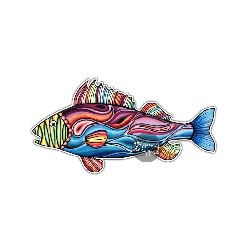 794x794 fish sticker colorful design bumper sticker laptop decal car etsy