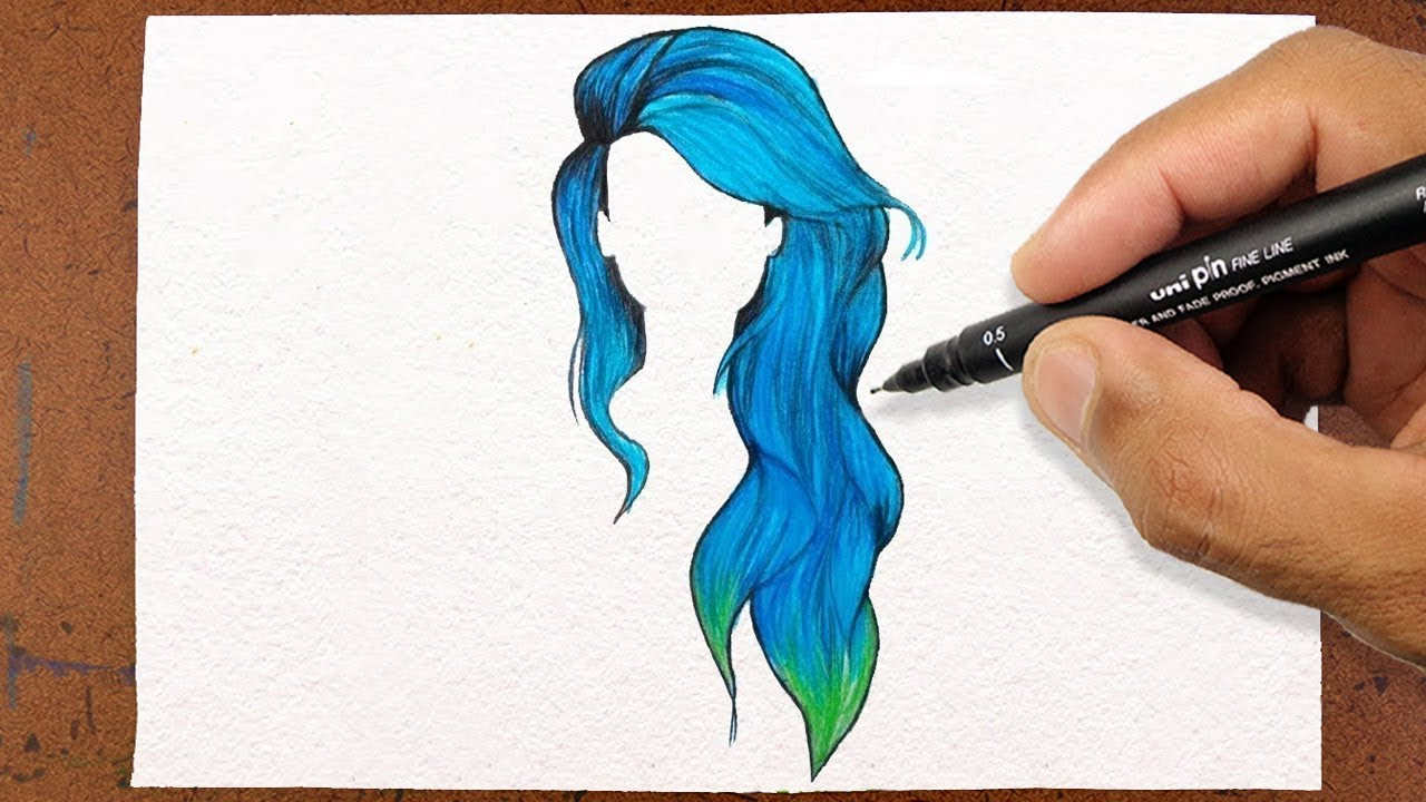 Colorful Hair Drawing Tumblr Free Download On Clipartmag