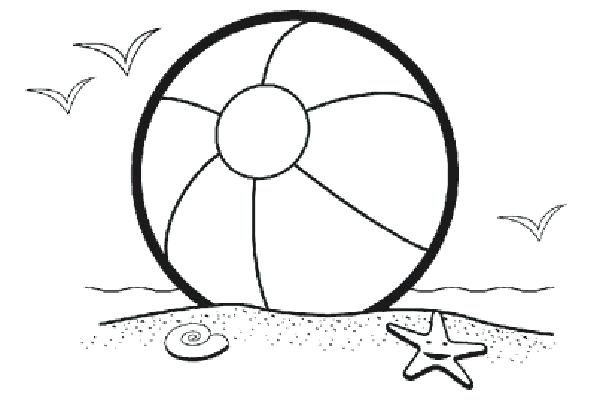 600x400 beach ball coloring pages beach ball drawing toy ball coloring