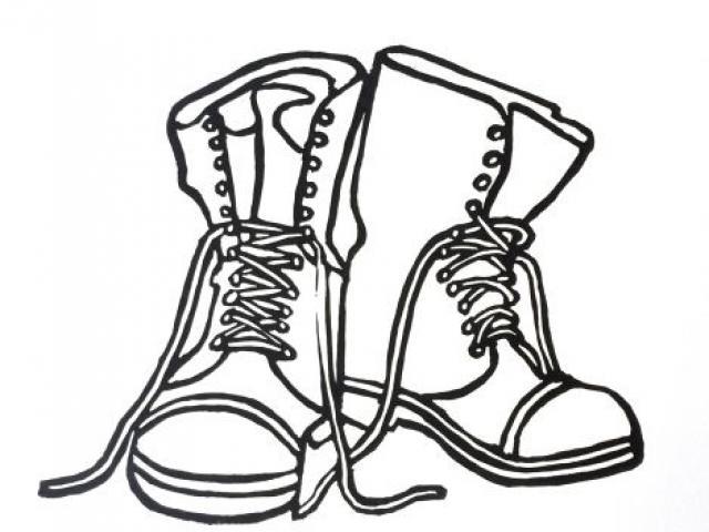 640x480 Free Drawn Boots, Download Free Clip Art