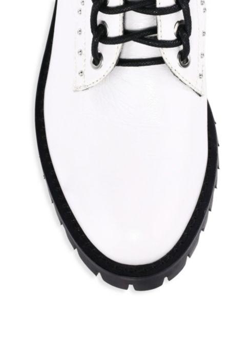 492x656 Rebecca Minkoff Jaiden Stud Leather Combat Boots White Fnq
