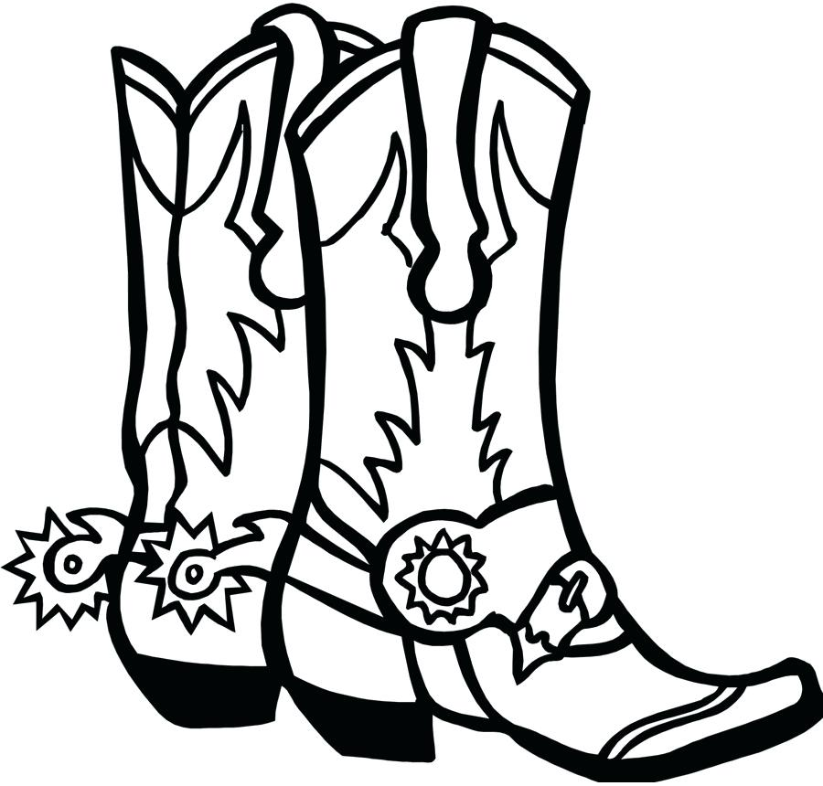 900x860 Drawing Of Boots