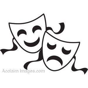 300x300 clip art comedy tragedy masks theatre masks drawing