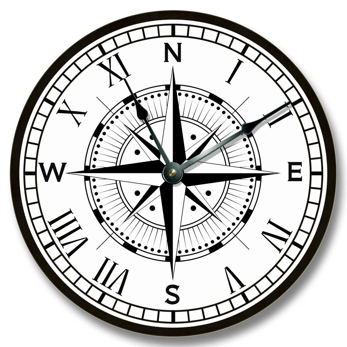 Compass Clock Drawing