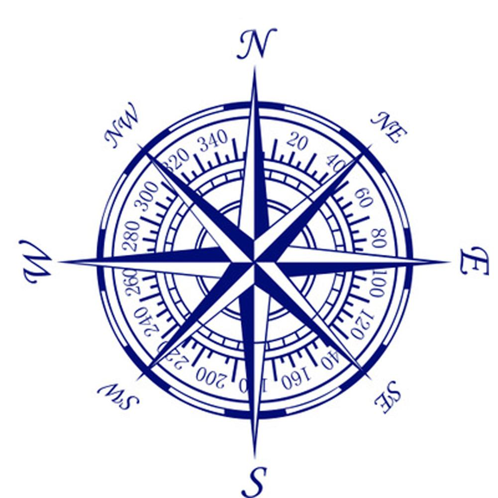 1001x1001 compass nautical wall art decals tattoo designs nautical