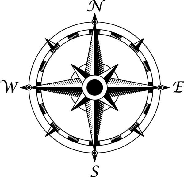 600x579 compass rose drawing compass rose