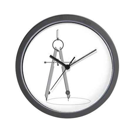 460x460 Drawing Compass Wall Clock