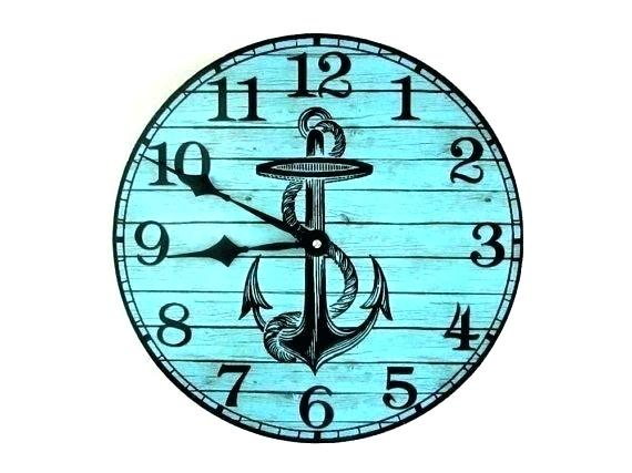 570x427 Big Nautical Wall Clocks Large Clock Compass Anchor