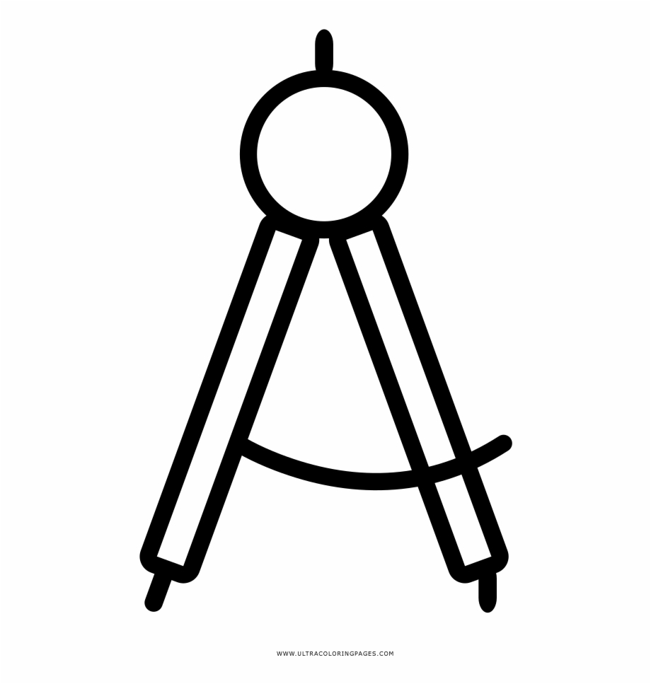 920x967 Drawing Compass Coloring Page