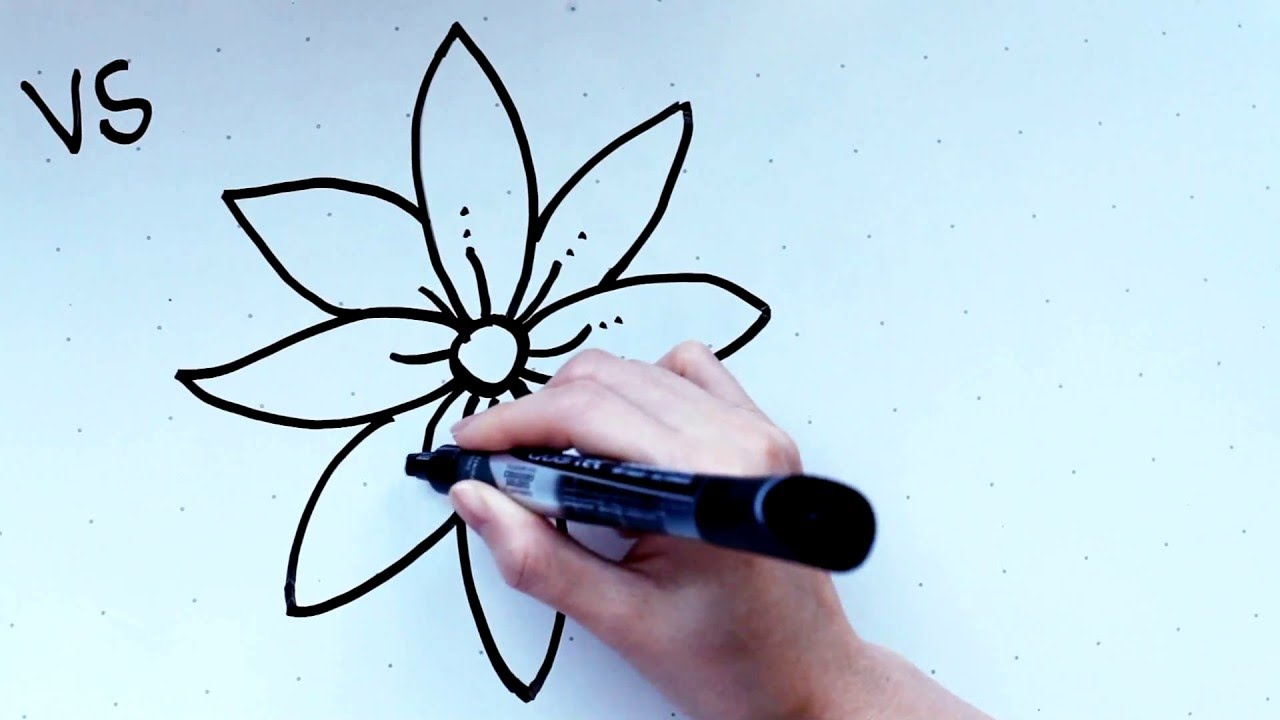 Compass Flower Drawing