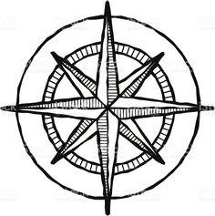 236x237 Compass Line Art
