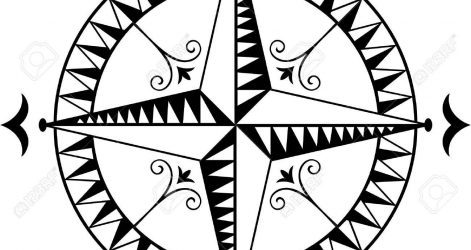 471x250 Compass Rose Drawing Free Cool Line Autocad Images And Easy