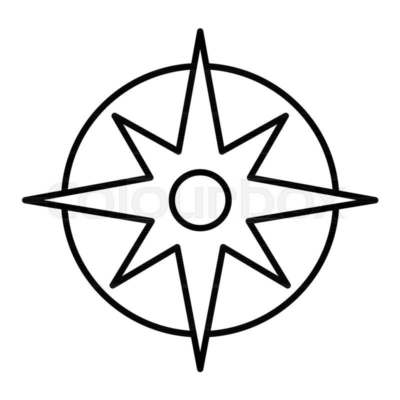 800x800 Compass Linear Icon Pocket Compass Stock Vector Colourbox