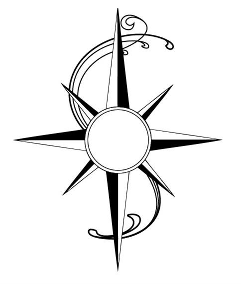 484x570 Simple Line Art Compass Tattoos Ideas And Designs