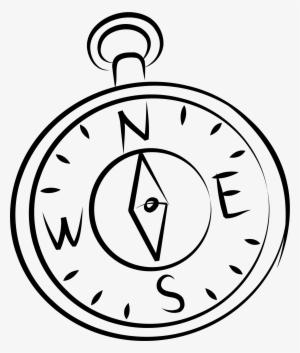 300x353 Free Stock Compass Clip Art Hand Drawn