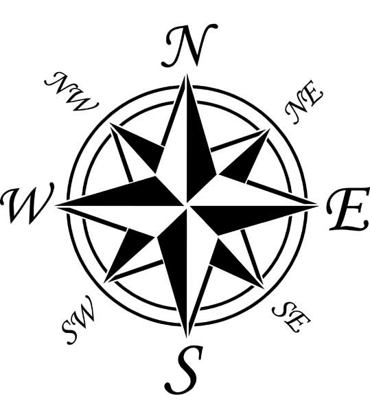 539x600 Line Drawing Of Compass Rose Drawing Tips