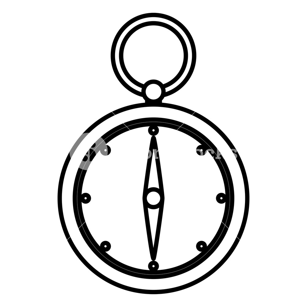 1000x1000 Line Compass Aventure Object To Geography Direction Vector