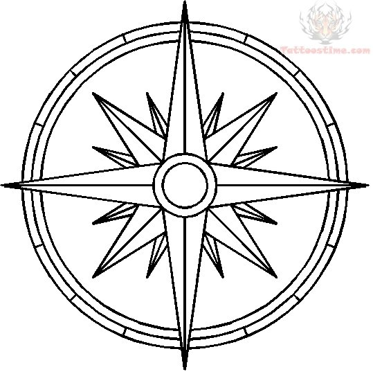 539x540 Compass Tattoos Designs