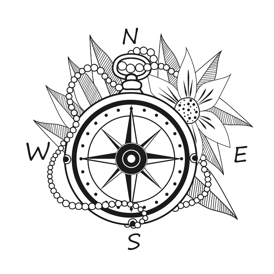 900x900 Compass Temporary Tattoo And Compass Fake Tattoos