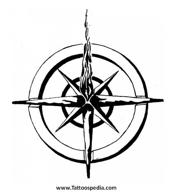 586x650 Nautical Compass Tattoo Designs