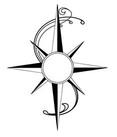 236x277 Simple Compass Tattoo