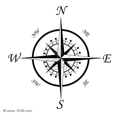 400x381 Latest Compass Tattoo Designs