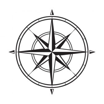 336x336 Compass Rose Drawing Tattoo Line Easy Fancy To Cool Ajedrezdeen