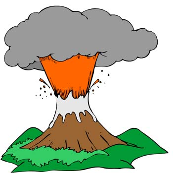 350x349 Collection Of Free Volcano Clipart Explosion Amusement Clipart