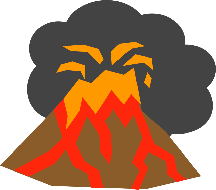 853x750 collection of free volcano vector eruption download on ui ex