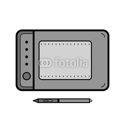 400x400 graphics tablet with a stylus drawing tool for computer graphics