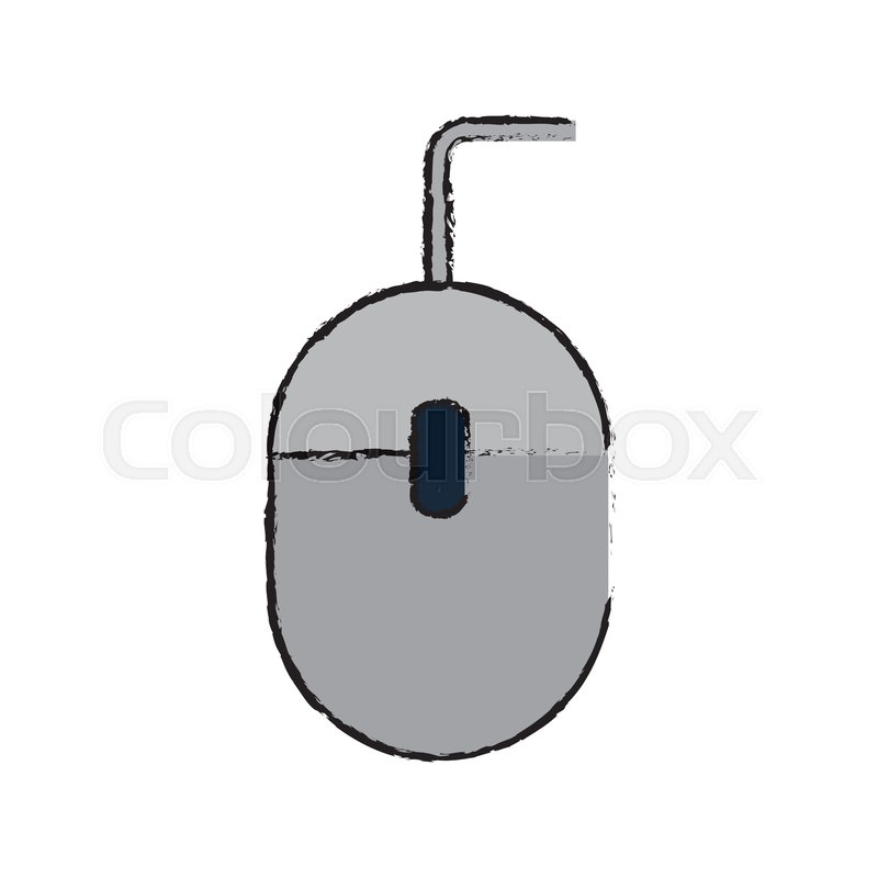 800x800 Drawing Mouse Computer Device Office Stock Vector Colourbox