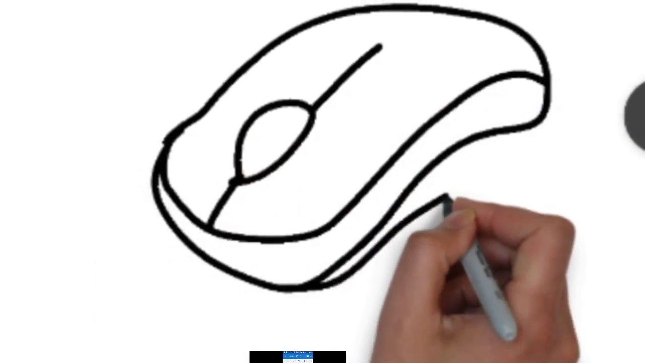 1280x720 How To Draw A Computer Mouse Step