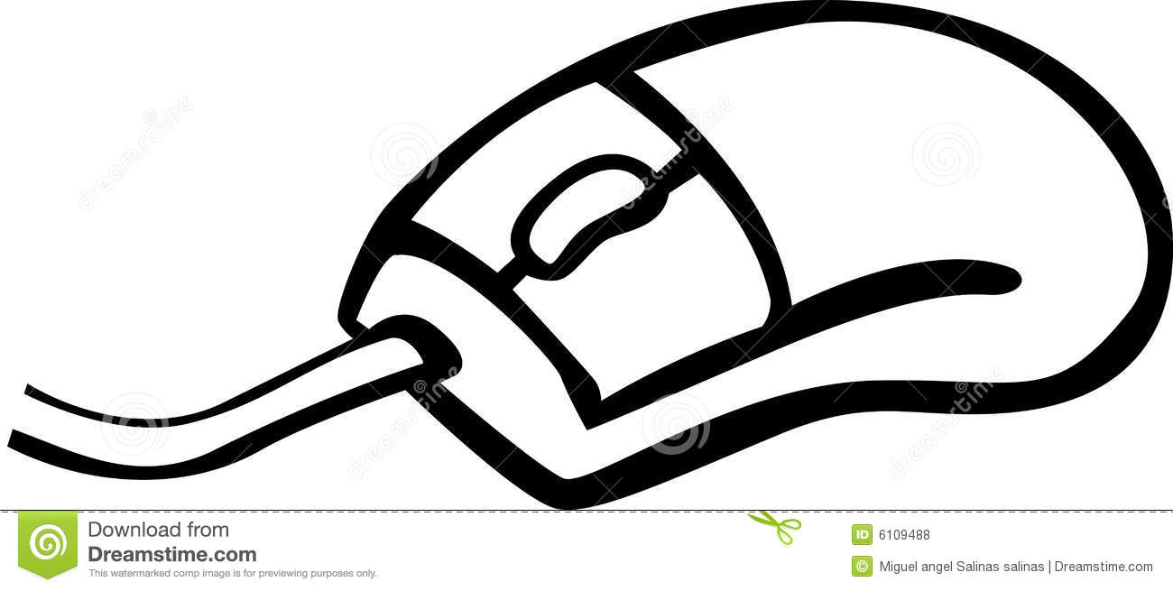 1300x655 Outline Of Computer Mouse Computer Mouse Vector Illustration