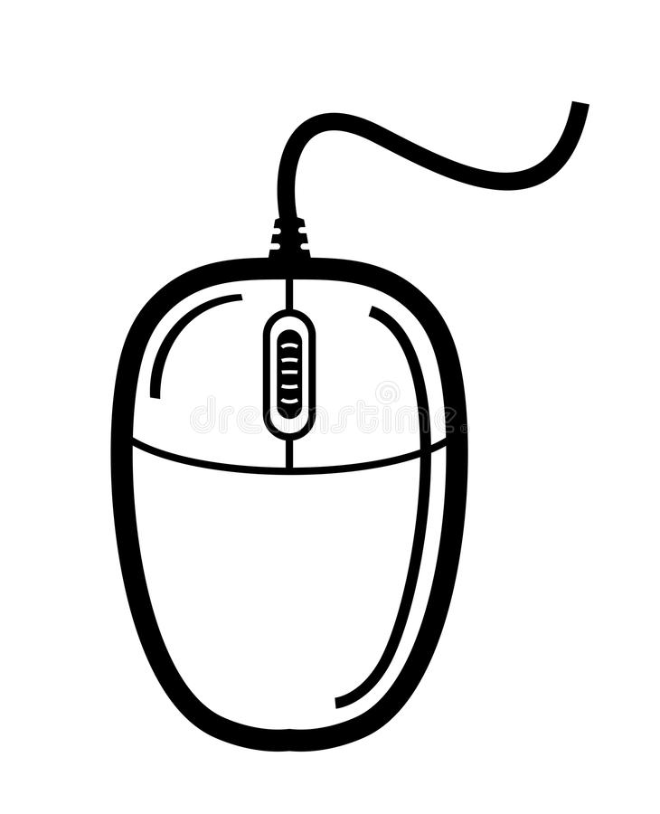 730x900 Computer Mouse Clipart Black And White