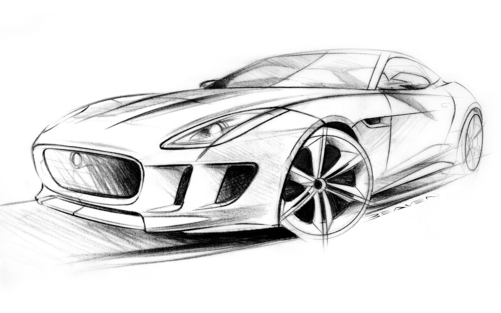 1600x1000 concept car pencil sketch and jaguar c x concept car sketches