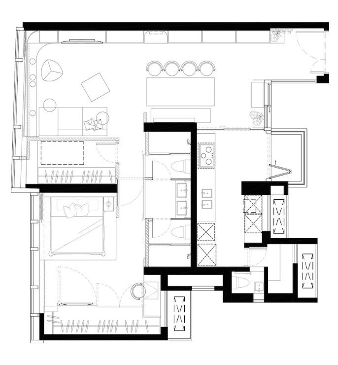 686x740 tiny house house design, house